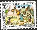 Sellos del Mundo : America : Bolivia : MANUFACTURA (METALURGIA) - TISHUANACU