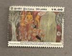 Sellos de Asia - Sri Lanka -  Pinturas en la pared Dahamsonda