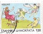 Sellos de Europa - Grecia -  HELLAS