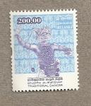 Stamps Asia - Sri Lanka -  Danzas tradicionales