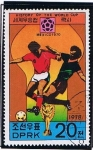 Stamps North Korea -  Historia of the wor cup