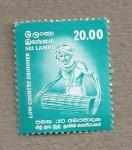Stamps Asia - Sri Lanka -  Tambor del sur