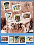 Sellos de Europa - Francia -  el siglo a traves de los sellos