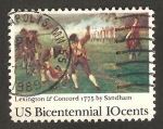 Sellos de America - Estados Unidos -  1051 - II Centº de la Independencia y de las batallas de Lexington y Concord