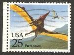 Sellos de America - Estados Unidos -  fauna prehistorica, pteranodon
