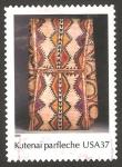 Sellos del Mundo : America : Estados_Unidos : arte indio americano, saco kutenai
