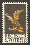 Sellos de America - Estados Unidos -  Invitación a la inscripción y al voto