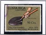 Sellos de America - Costa Rica -  Cinuentenario d´Intsituto nacional d´seguros