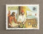Sellos de Europa - Portugal -  Viajes en el Atlantico Sur