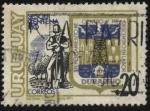 Stamps Uruguay -  Homenaje a la ciudad de Durazno. Entre los años 1827 y 1828 se funda San Pedro del Durazno. Escudo d