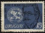 Sellos de America - Uruguay -  José Enrique Rodó 1871-1917. Escritor. Unión postal de la Américas y España.