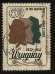 Sellos de America - Uruguay -  Homenaje al escritor Antonio D. Lussich, 100 años de la obra literaria Los tres gauchos orientales.
