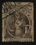 Sellos de America - Uruguay -  Mujer con espigas de trigo.