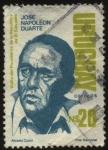Stamps Uruguay -  Visita del Presidente de la República de El Salvador JOSÉ NAPOLEÓN DUARTE.