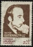 Stamps Uruguay -  Héctor Gutiérrez Ruiz. Político y luchador social, asesinado en Buenos Aires.