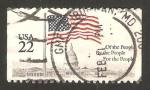 Sellos de America - Estados Unidos -  Bandera y El Capitolio