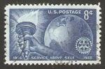Sellos de America - Estados Unidos -  50 anivº de rotary internacional
