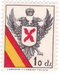 Stamps Spain -  Bandera y Escudo