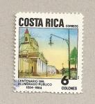 Stamps Costa Rica -  Centenario del alumbrado público