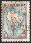 Stamps Argentina -  MAPA - 2