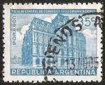 Stamps Argentina -  PALACIO CENTRAL DE CORREOS Y ELECOMUNICACIONES