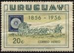 Stamps Uruguay -  100 años del Sello diligencia de 1856.