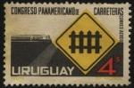 Stamps Uruguay -  Congreso Panamericano de carreteras.