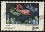Stamps Uruguay -  Reproducción cuadro de Solari. Ángeles paseanderos.