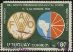 Sellos de America - Uruguay -  8va. Reunión del grupo intergubernamental sobre frutos cítricos.