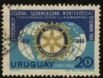 Stamps Uruguay -  50 años del Rotary Club de Montevideo. Conferencia regional sudamericana.