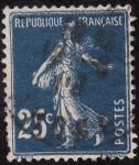 Stamps Europe - France -  SEMBRADORA CON FONDO LISO