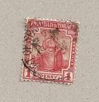 Stamps America - Trinidad y Tobago -  Mujer sentada en carro