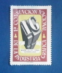 Stamps : Europe : Spain :  1ª CONVENCION  NACIONAL DE LA INDUSTRIA GRAFICA
