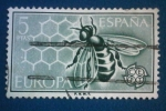 Sellos del Mundo : Europa : España : Europa CEPT. Aveja en panal de miel -Ed:1448