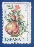 Stamps : Europe : Spain :  GRANADO -PUNICA GRANATUM- Ed:2255 (Flora española 1975-frutas)