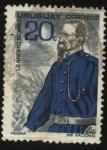 Stamps Uruguay -  General Leandro Gómez, militar uruguayo, líder de la heroica defensa de Paysandú de 1864, al término