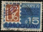 Sellos de America - Uruguay -  Exposición filatélica nacional URUEXPO 70.