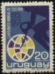 Sellos de America - Uruguay -  Campeonato mundial de ciclismo año 1968.