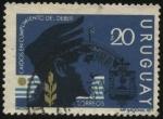 Stamps Uruguay -  Caidos en cumplimiento del deber. Escudo de la Policía Nacional.