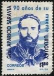 Sellos del Mundo : America : Uruguay : 90 años de la muerte del General Aparicio Saravia.