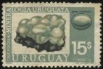 Sellos de America - Uruguay -  Mineralogía uruguaya. Gema Calcedonia.