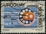 Sellos de America - Uruguay -  50 años del teléfono automático. Administración Nacional de Telecomunicaciones.