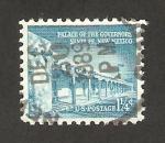 Stamps United States -  edificio del gobierno en Santa Fe, Nuevo México