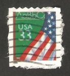 Stamps of the world : United States :  Bandera y alfabeto