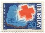 Stamps of the world : Uruguay :  75º aniversario Cruz Roja uruguaya