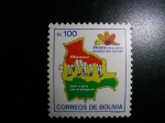 Stamps : America : Bolivia :  Fiesta mundial del calzado