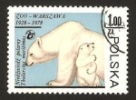 Stamps : Europe : Poland :  zoo de varsovia, osos polares