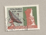 Stamps Colombia -  Comunicaciones por satélite