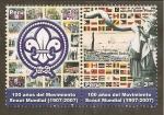 Stamps Peru -  100 Años del Movimiento Scout Mundial 1907 - 2007