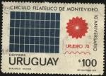Sellos de America - Uruguay -  10mo. aniversario del Círculo Filatélico de Montevideo. Uruexpo 74. Imprenta Nacional.
